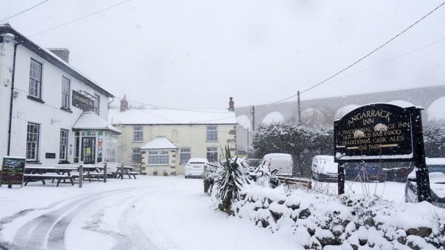 Angarrack Inn — at Angarrack Inn   #snowday ❄️❄️❄️❄️